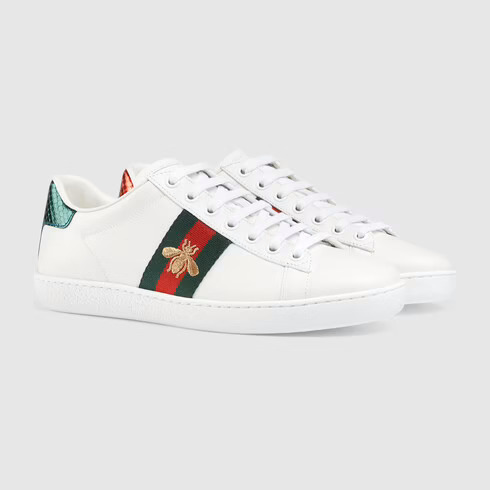 White Women's Ace Embroidered Sneaker | GUCCI® UK