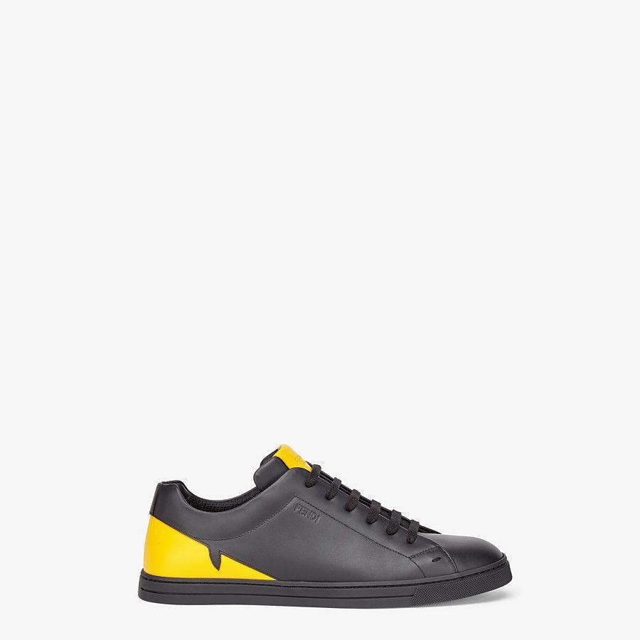 Black leather low-tops - SNEAKERS | Fendi