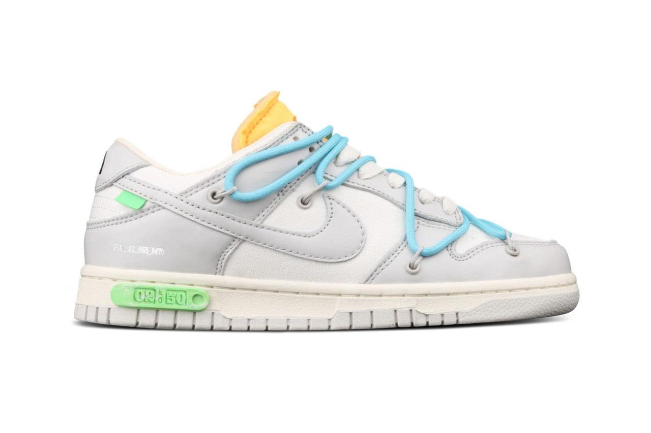 """Off White x Nike Dunk Low """"The 50 Collection"""" Release 